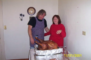 dad and mom and turkey